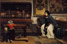Marguerite in Church, c.1860 by Joseph Tissot | Painting Reproduction