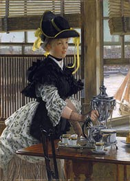 Tea Time, 1872 by Joseph Tissot | Painting Reproduction