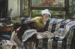 The Japanese Scroll, Undated by Joseph Tissot | Painting Reproduction