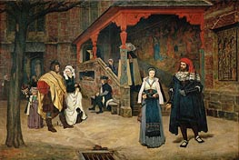 Meeting between Faust and Marguerite, 1860 by Joseph Tissot | Painting Reproduction