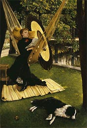 The Hammock, undated by Joseph Tissot | Painting Reproduction