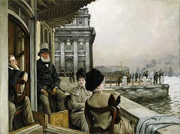 The Terrace of the Trafalgar Tavern, Greenwich, c.1878 by Joseph Tissot | Painting Reproduction
