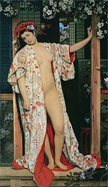 Japanese Girl Bathing, 1864 von Joseph Tissot | Gemälde-Reproduktion