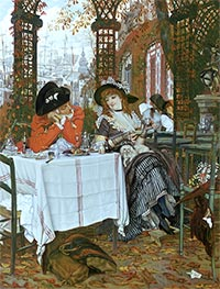 A Luncheon, c.1868 by Joseph Tissot | Painting Reproduction