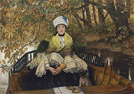 Waiting, c.1873 by Joseph Tissot | Painting Reproduction