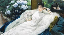 Portrait of Clotilde Briatte, Comtesse Pillet-Will, undated by Joseph Tissot | Painting Reproduction