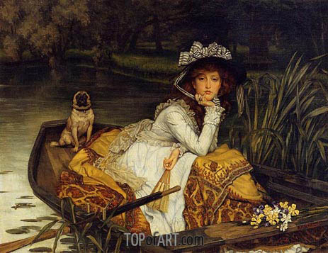 Young Lady in a Boat, c.1870 | Joseph Tissot | Painting Reproduction