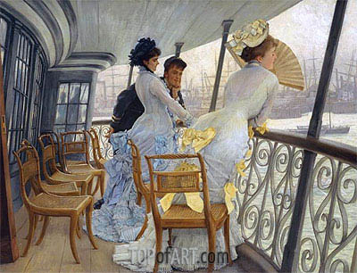 The Gallery of H.M.S. Calcutta, 1877 | Joseph Tissot | Painting Reproduction