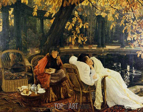 A Convalescent, c.1876 | Joseph Tissot | Painting Reproduction