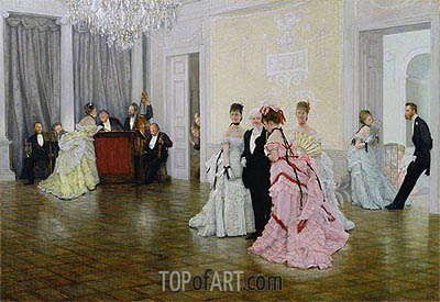Too Early, 1873   Joseph Tissot   Painting Reproduction