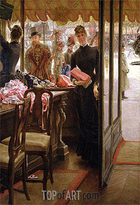 The Shop Girl (The Milliner's Shop), c.1883/85 | Joseph Tissot | Painting Reproduction
