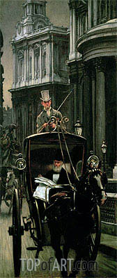 Going to Business (Going to the City), c.1879 | Joseph Tissot | Painting Reproduction
