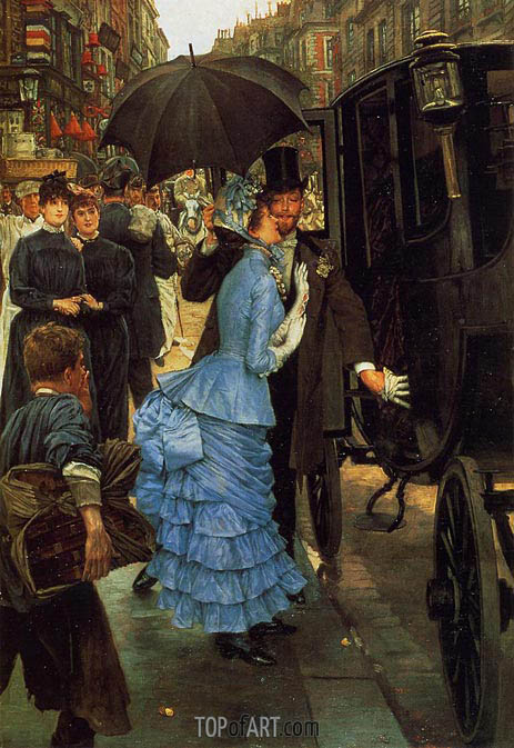 The Traveller (The Bridesmaid), c.1883/85 | Joseph Tissot | Painting Reproduction