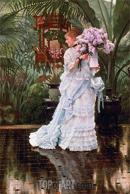 The Bunch of Lilacs, c.1875 | Joseph Tissot | Gemälde Reproduktion