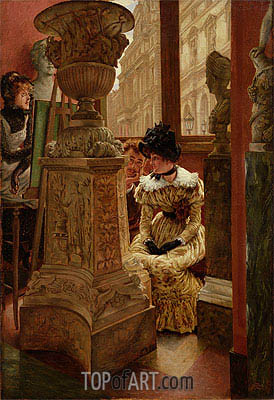 In the Louvre, c.1883/85   Joseph Tissot   Painting Reproduction