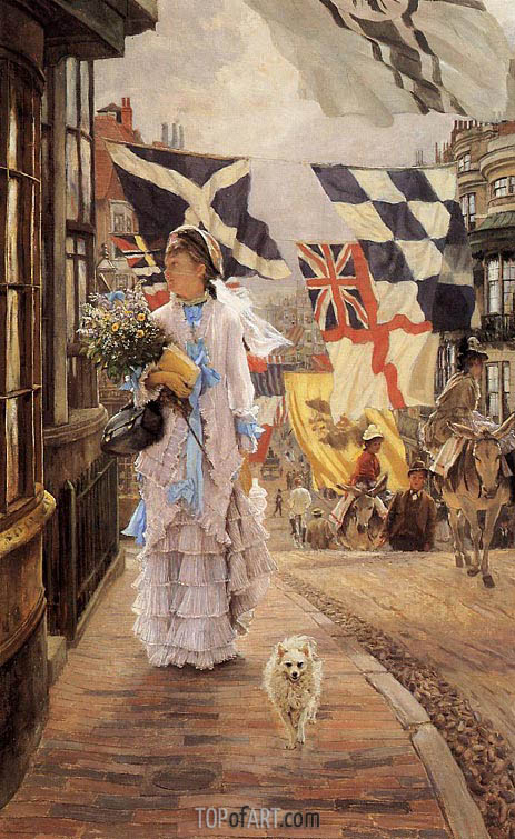 A Fete Day at Brighton, c.1875/78   Joseph Tissot   Painting Reproduction
