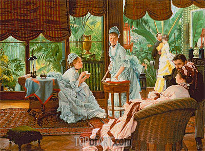 In the Conservatory (The Rivals), c.1875/78 | Joseph Tissot | Painting Reproduction