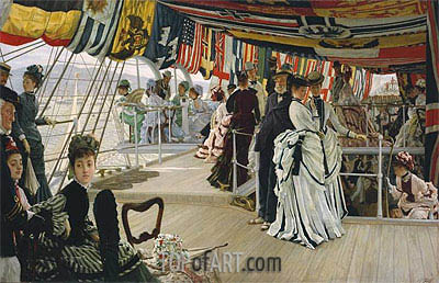 The Ball on Shipboard, c.1874 | Joseph Tissot | Painting Reproduction