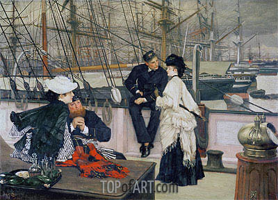 The Captain and the Mate, 1873   Joseph Tissot   Painting Reproduction