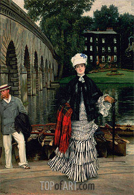 The Return from the Boating Trip, 1873   Joseph Tissot   Painting Reproduction