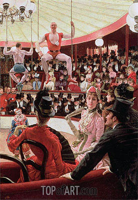 Women of Paris - The Circus Lover (The Sporting Women), 1885   Joseph Tissot   Painting Reproduction