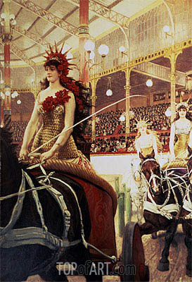 The Ladies of the Cars, c.1883/85    Joseph Tissot   Painting Reproduction