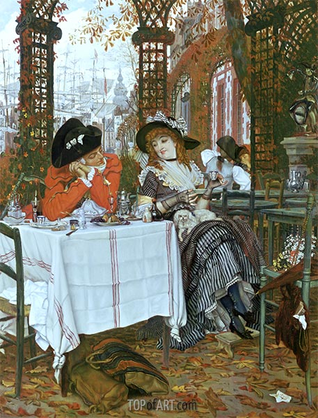 A Luncheon, c.1868 | Joseph Tissot | Painting Reproduction