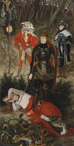 Triumph of the Will - The Challenge, c.1877 | Joseph Tissot | Painting Reproduction