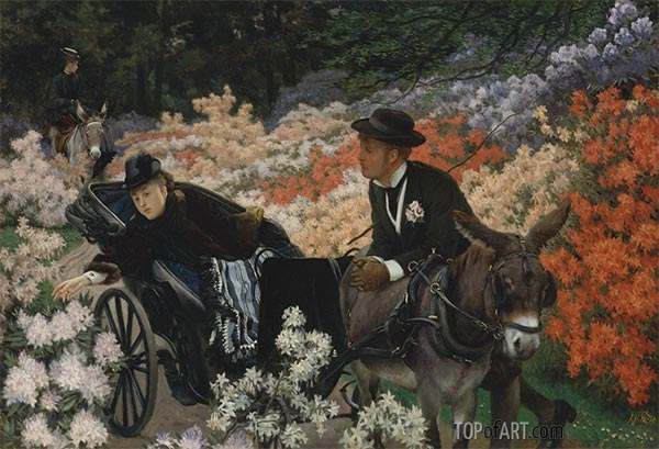 The Morning Ride, c.1898 | Joseph Tissot | Painting Reproduction