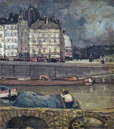The Left Arm of the Seine in Front of the Place Dauphine, undated von James Wilson Morrice | Gemälde-Reproduktion