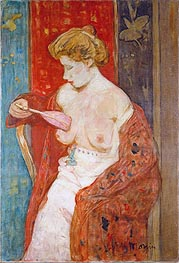 Woman in Red Bathrobe, c.1912/14 by James Wilson Morrice | Painting Reproduction