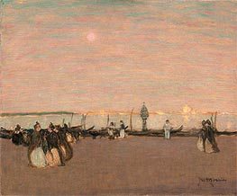 Evening Stroll, Venice, undated by James Wilson Morrice | Painting Reproduction