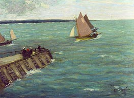 Sailing Boats, undated von James Wilson Morrice | Gemälde-Reproduktion