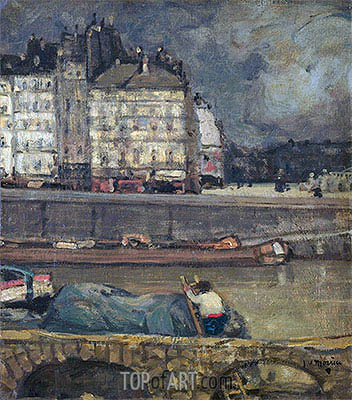 The Left Arm of the Seine in Front of the Place Dauphine, undated | James Wilson Morrice | Painting Reproduction