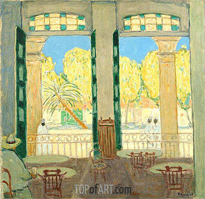 Café el Pasaje, Havana, c.1915/19 | James Wilson Morrice | Painting Reproduction