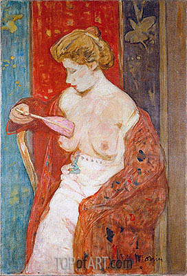 Woman in Red Bathrobe, c.1912/14 | James Wilson Morrice | Painting Reproduction