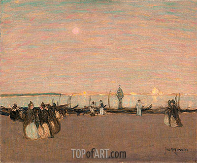 Evening Stroll, Venice, undated   James Wilson Morrice   Painting Reproduction