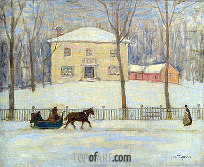 The Old Holton House, Montreal, c.1908/09 | James Wilson Morrice | Painting Reproduction