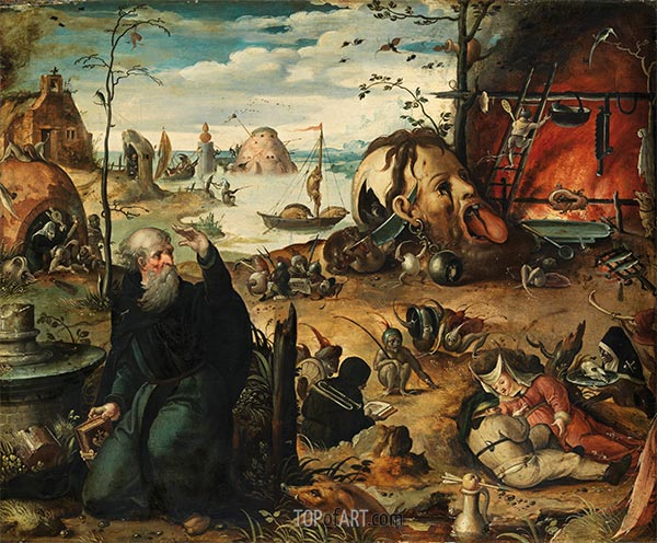 The Temptation of St Anthony, c.1550 | Jan Mandyn | Painting Reproduction