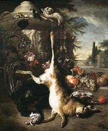 Still Life with Dead Hare, 1703 by Jan Baptist Weenix | Painting Reproduction