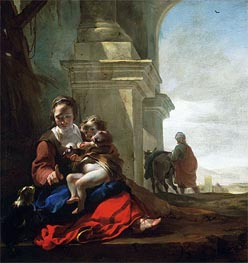 Rest on the Flight into Egypt, c.1647/50 by Jan Baptist Weenix | Painting Reproduction