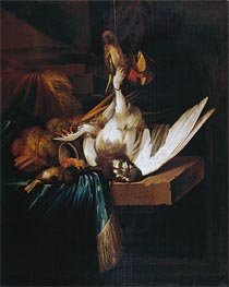Dead Game Birds on a Stone Table | Jan Baptist Weenix | Gemälde Reproduktion