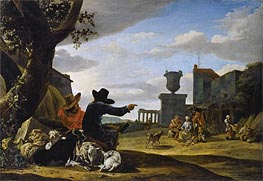 Ruined Landscape with a Tavern, Undated by Jan Baptist Weenix | Painting Reproduction