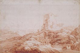 Landscape with Stream and Ruins | Jan Baptist Weenix | Gemälde Reproduktion