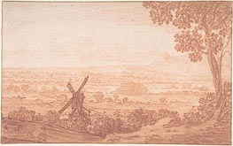An Extensive Panoramic Landscape with a Windmill | Jan Baptist Weenix | Gemälde Reproduktion