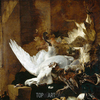 Still Life with a Dead Swan, c.1651 | Jan Baptist Weenix | Painting Reproduction