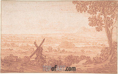 An Extensive Panoramic Landscape with a Windmill, Undated | Jan Baptist Weenix | Gemälde Reproduktion