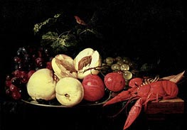Still Life of Fruit with a Lobster, Undated von de Heem | Gemälde-Reproduktion