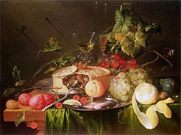 Still Life of Fruit, 1651 von de Heem | Gemälde-Reproduktion