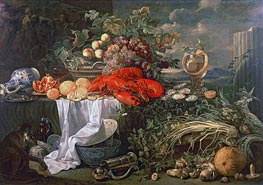 Still Life with a Monkey | de Heem | Painting Reproduction